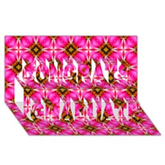 Cute Pretty Elegant Pattern Congrats Graduate 3d Greeting Card (8x4)  by creativemom