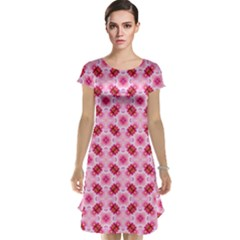Cute Pretty Elegant Pattern Cap Sleeve Nightdresses