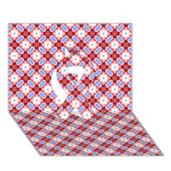 Cute Pretty Elegant Pattern Ribbon 3d Greeting Card (7x5)  by creativemom