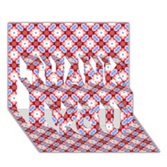 Cute Pretty Elegant Pattern Thank You 3d Greeting Card (7x5)  by creativemom