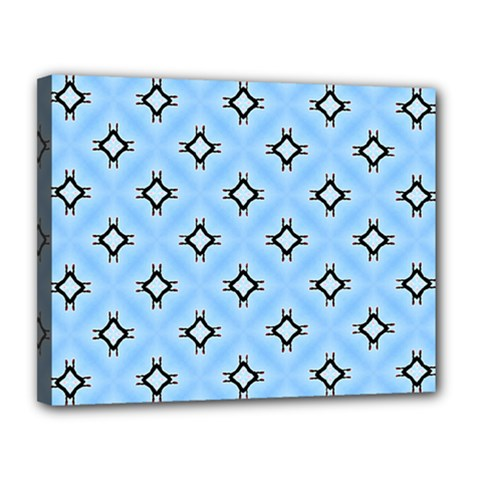 Cute Pretty Elegant Pattern Canvas 14  X 11  by creativemom