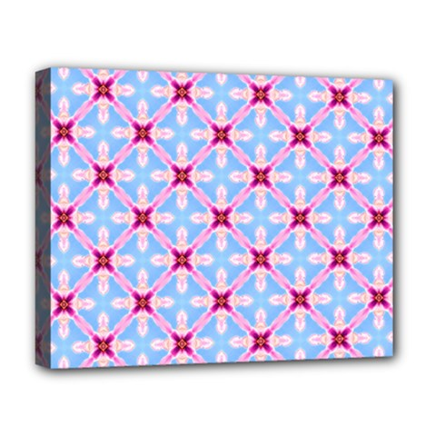 Cute Pretty Elegant Pattern Deluxe Canvas 20  X 16   by creativemom