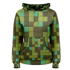 Green Tiles Pattern Pullover Hoodie by LalyLauraFLM