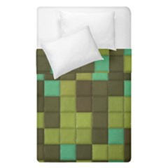 Green Tiles Pattern  Duvet Cover (single Size) by LalyLauraFLM