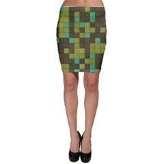 Green Tiles Pattern Bodycon Skirt by LalyLauraFLM