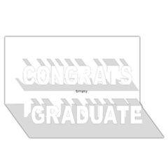 Black And White Wavy Mosaic Congrats Graduate 3d Greeting Card (8x4)  by NaturalDesign