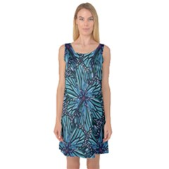 Modern Floral Collage Pattern Sleeveless Satin Nightdress by dflcprints