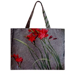 Red Flowers Tiny Tote Bags