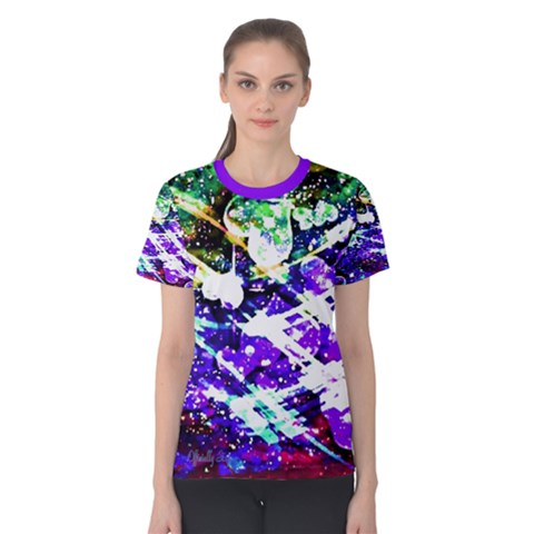 Officially Sexy Floating Hearts Collection Purple Short Sleeve T-shirt by OfficiallySexy