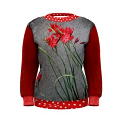 Red Flowers Women s Sweatshirts by DeneWestUK