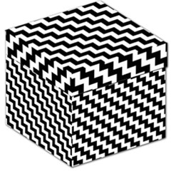 Black And White Zigzag Storage Stool 12   by ElenaIndolfiStyle