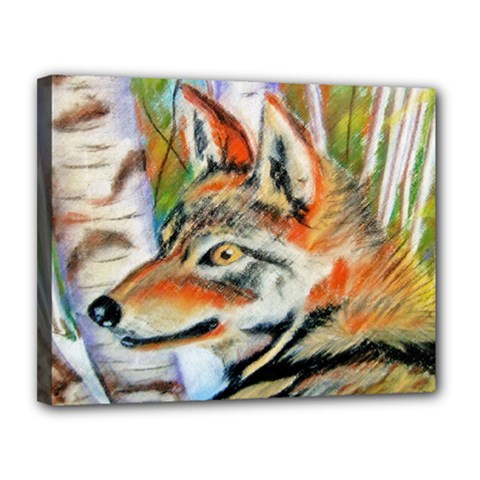 Wolfpastel Canvas 14  X 11  by LokisStuffnMore