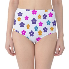 Candy Flowers High-waist Bikini Bottoms by designmenowwstyle