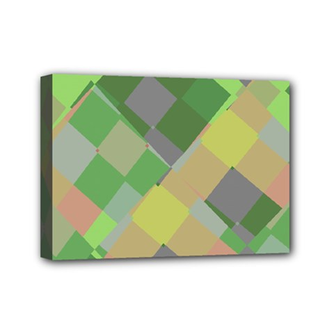 Squares And Other Shapes Mini Canvas 7  X 5  (stretched) by LalyLauraFLM