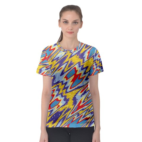 Colorful Chaos Women s Sport Mesh Tee by LalyLauraFLM
