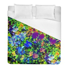 The Neon Garden Duvet Cover Single Side (twin Size) by rokinronda