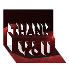 Red Heart Thank You 3d Greeting Card (7x5)  by timelessartoncanvas