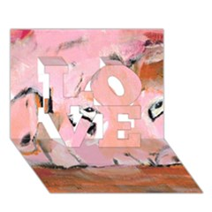 Piggy No 3 Love 3d Greeting Card (7x5)