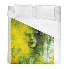 Green Mask Duvet Cover Single Side (twin Size) by timelessartoncanvas
