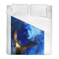 Blue Mask Duvet Cover Single Side (twin Size) by timelessartoncanvas
