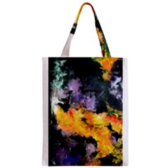 Space Odessy Zipper Classic Tote Bags