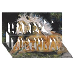 Mustang Happy Birthday 3d Greeting Card (8x4)  by timelessartoncanvas