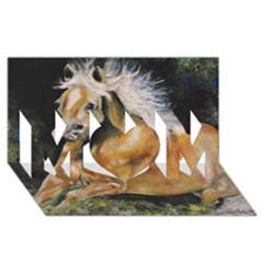 Mustang Mom 3d Greeting Card (8x4)  by timelessartoncanvas