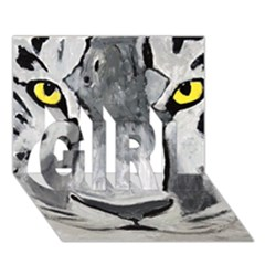 The Eye Of The Tiger Girl 3d Greeting Card (7x5)  by timelessartoncanvas