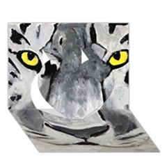 The Eye Of The Tiger Heart 3d Greeting Card (7x5)  by timelessartoncanvas