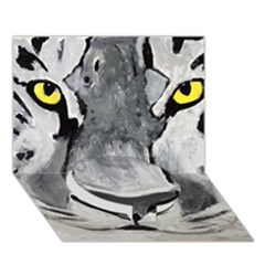 The Eye Of The Tiger Circle Bottom 3d Greeting Card (7x5)  by timelessartoncanvas
