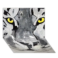 The Eye Of The Tiger Love Bottom 3d Greeting Card (7x5)  by timelessartoncanvas