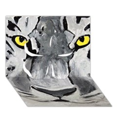 The Eye Of The Tiger Clover 3d Greeting Card (7x5)  by timelessartoncanvas