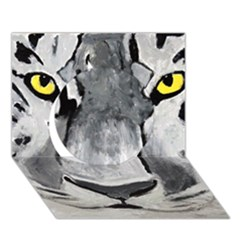 The Eye Of The Tiger Circle 3d Greeting Card (7x5)  by timelessartoncanvas
