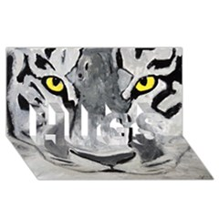 The Eye Of The Tiger Hugs 3d Greeting Card (8x4)