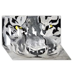 The Eye Of The Tiger Best Wish 3d Greeting Card (8x4)  by timelessartoncanvas