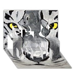 The Eye Of The Tiger Get Well 3d Greeting Card (7x5)  by timelessartoncanvas