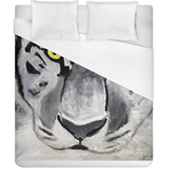 The Eye Of The Tiger Duvet Cover Single Side (double Size) by timelessartoncanvas