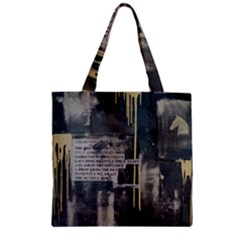 The Dutiful Rise Zipper Grocery Tote Bags by timelessartoncanvas