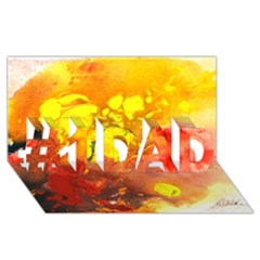Fire, Lava Rock #1 Dad 3d Greeting Card (8x4)  by timelessartoncanvas