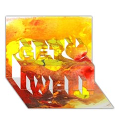 Fire, Lava Rock Get Well 3d Greeting Card (7x5)  by timelessartoncanvas
