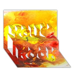 Fire, Lava Rock You Rock 3d Greeting Card (7x5)