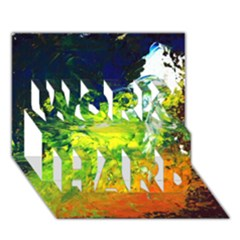 Abstract Landscape Work Hard 3d Greeting Card (7x5)