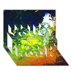Abstract Landscape You Rock 3d Greeting Card (7x5)