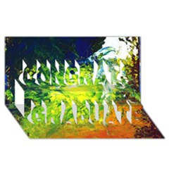 Abstract Landscape Congrats Graduate 3d Greeting Card (8x4)