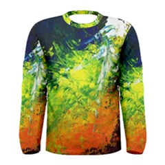 Abstract Landscape Men s Long Sleeve T Shirts
