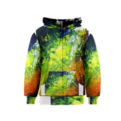 Abstract Landscape Kids Zipper Hoodies