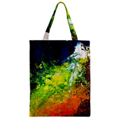 Abstract Landscape Zipper Classic Tote Bags