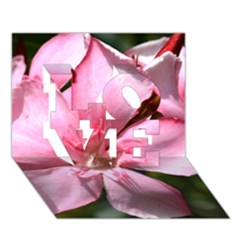 Pink Oleander Love 3d Greeting Card (7x5)  by timelessartoncanvas