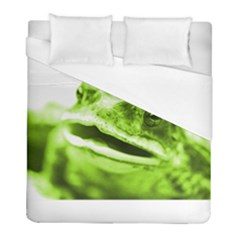 Green Frog Duvet Cover Single Side (twin Size) by timelessartoncanvas