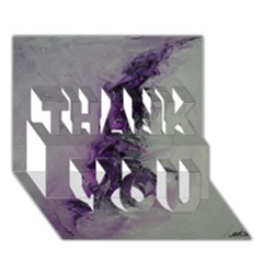 The Power Of Purple Thank You 3d Greeting Card (7x5)  by timelessartoncanvas